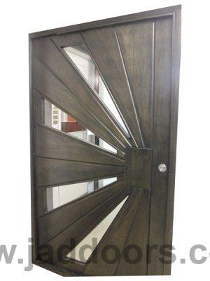 Pivot Sunray Door With Glass   Jad Doors Manufacturers